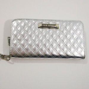 Steve Madden Silver BKate Zip Around Wallet